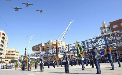 Más de 200 personas participan en la jura de bandera en Alcantarilla