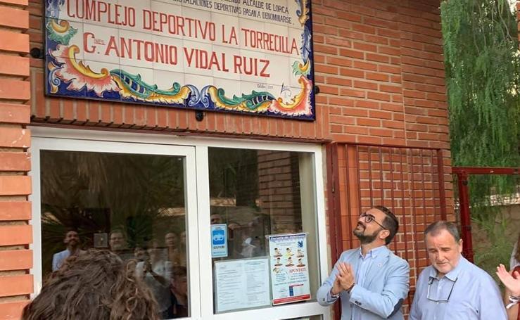 El deporte lorquino rinde homenaje a Ginés Antonio Vidal