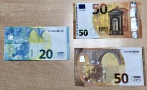 Pillan a dos mujeres en Cieza que pagaban con billetes falsos