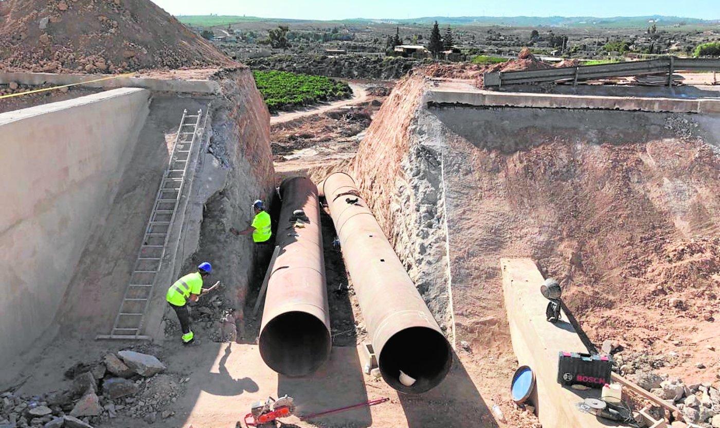 La CHS finaliza la reparación del canal del Trasvase en Los Valientes