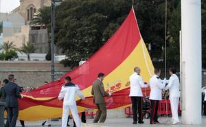 Solemne arriado de bandera