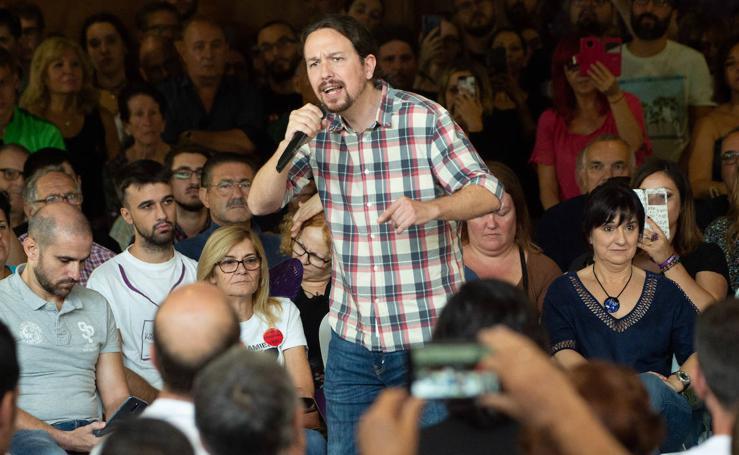 Iglesias, en la Región: «PSOE, PP y Cs preparan un acuerdo para gobernar juntos»