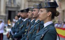 La Guardia Civil recuerda a los afectados por la gota fría en la Región en el día de su patrona