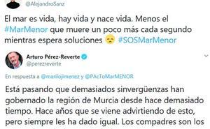 Pérez-Reverte, Alejandro Sanz y Santiago Segura se suman al SOS por la laguna