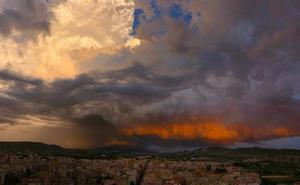 La espectacular foto de la tormenta que descargó ayer en varios puntos de la Región