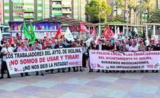 Movilización de los empleados municipales
