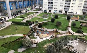 Se hunde un parking subterráneo en Santander sin provocar víctimas