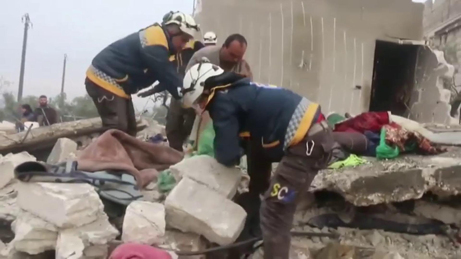 22 civiles muertos en los últimos bombardeos en Siria