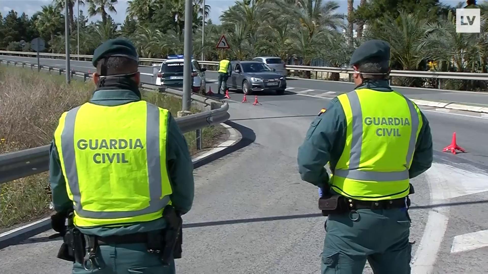 La Guardia Civil efectúa controles en Murcia para comprobar que se cumple el estado de alarma