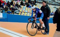 La ciclista murciana Andrea Castejón, con la selección española júnior