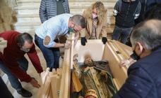 La talla de San Clemente de Lorca será recuperada en el Centro Regional de Restauración