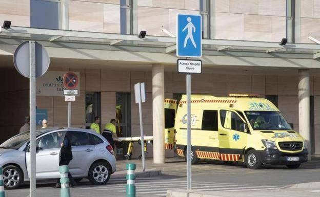 An ambulance at Santa Lucia hospital in a file photo.