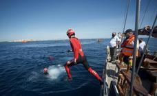 Rescate por mar y aire en Isla Grosa