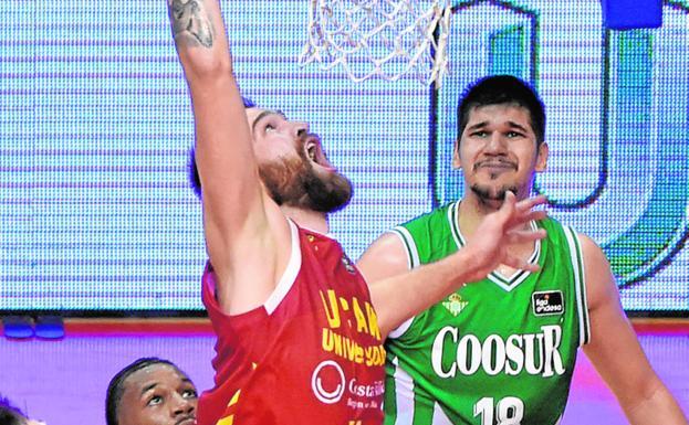 Radovic encesta en el UCAM-Betis jugado el viernes.
