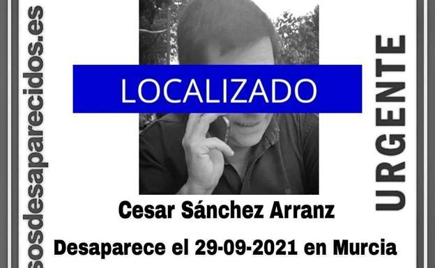 Localizan tras casi tres días de búsqueda a un hombre desaparecido desde el pasado lunes en Murcia