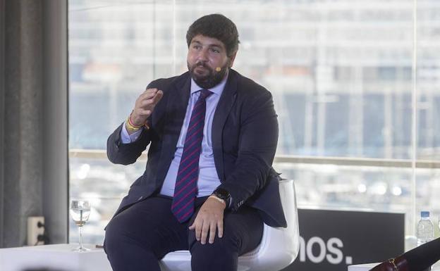 López Miras, este viernes, en la Convención Nacional del PP en Cartagena./Pablo Sánchez / AGM