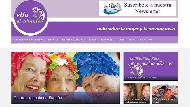 Una web dedicada a la mujer con menopausia
