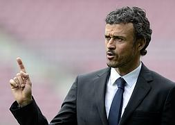 Luis Enrique, en el Camp Nou. / AFP/