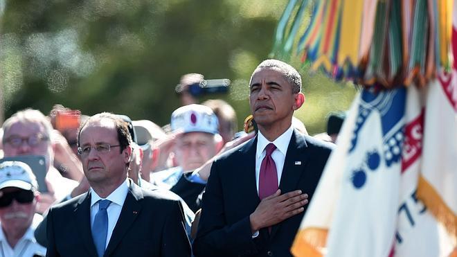 Obama: «Nuestro compromiso con la libertad está escrito con sangre en estas playas»