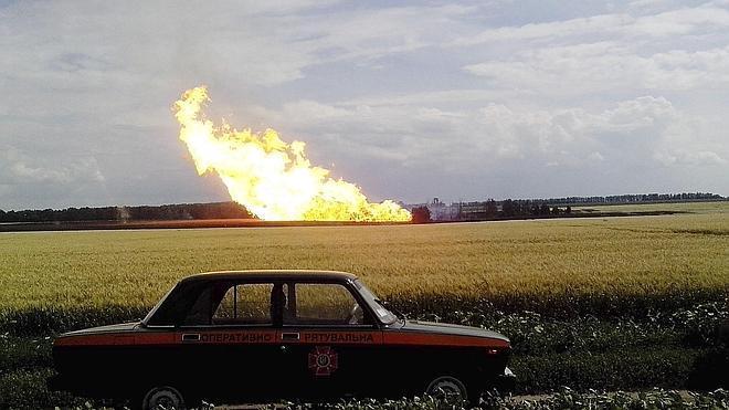 Explosión en un oleoducto que transportaba gas ruso a Europa