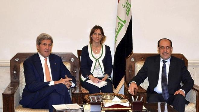 Kerry promete un apoyo «intenso y sólido» a las fuerzas de seguridad iraquíes