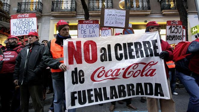 Los trabajadores de Coca-Cola logran el salario correspondiente a la huelga de 2014