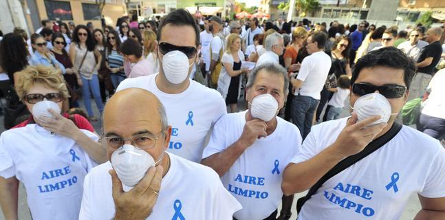Concentración contra la contaminación del aire en Alcantarilla