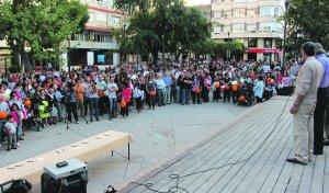 Manifestación contra los recortes a dependientes
