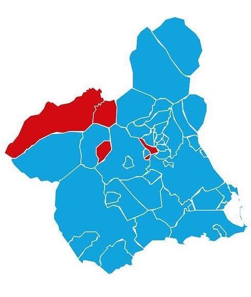 Mapa Region De Murcia Elecciones.C S Se Situa Como Segunda Fuerza Politica En Tres De Las