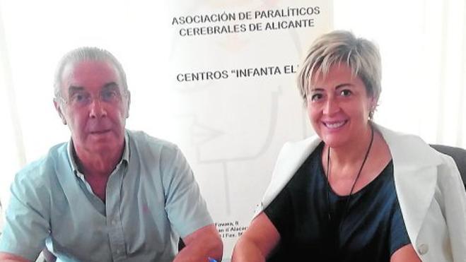 La Fundación Trinitario Casanova dona diez mil euros a la Asociación de Paralíticos Cerebrales de Alicante