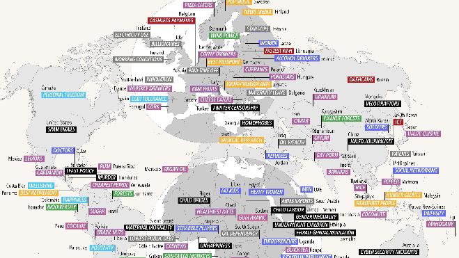 El mapa que ha ofendido a casi todos los países del mundo
