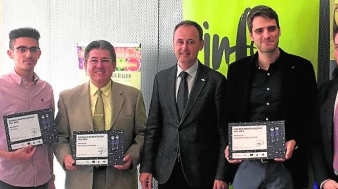 Tres emprendedores premiados en marzo